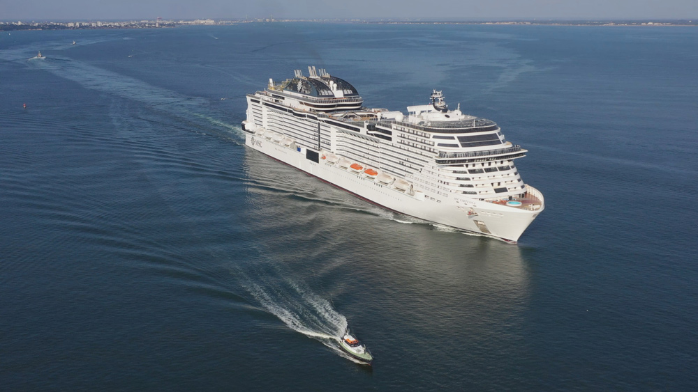 MSC Virtuosa during sea trials