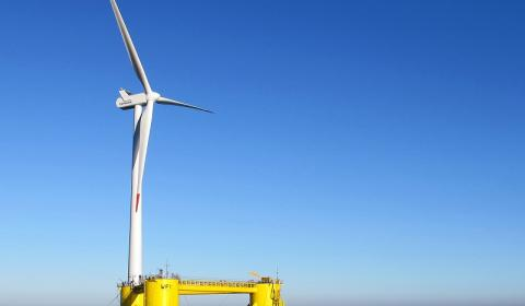Floating Offshore Wind Technology (FOWT)  turbine Principle Power