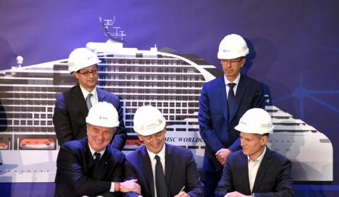 Packboat Project signature - MSC, BV, Chantiers de l'atlantique