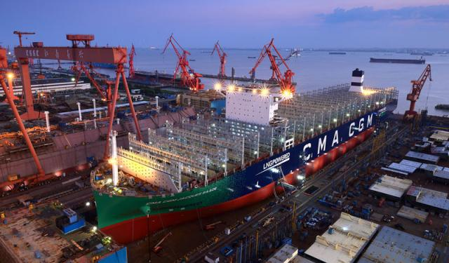 CMA-CGM-Jacques Saadé-LNG-powered mega-containership