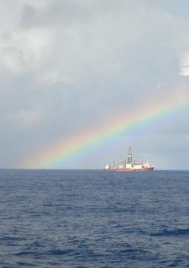 rainbow ship sea