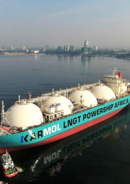 KARMOL LNG carrier converted into FSRU for a gas to power application