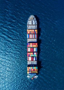 Container Ship - Aerial View