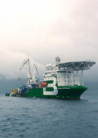 Crane Vessel Bourbon Evolution - offshore service vessel (OSV) ship classification