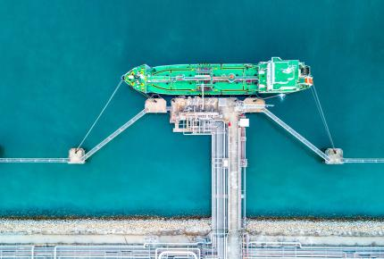 LNG Carrier at the terminal - LNG Value Chain